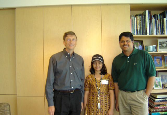 Arfa with Bill Gates