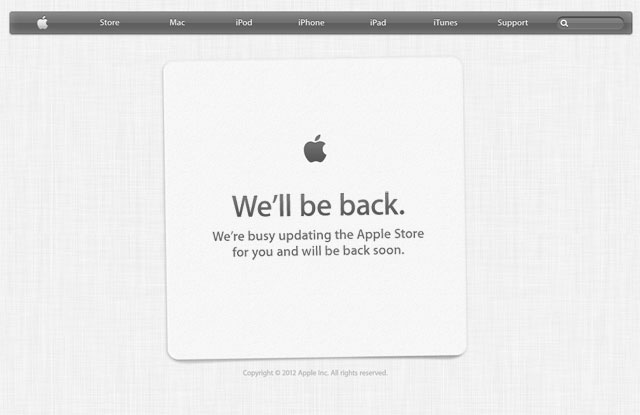 Apple's Online Store Goes Down for iPhone Event