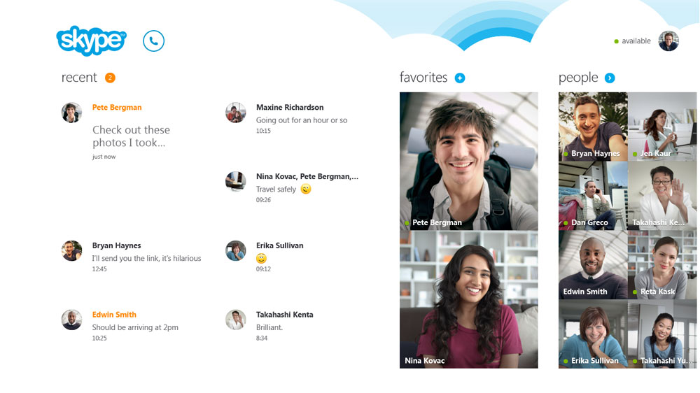 Microsoft introduced a new Version of Skype for Windows 8