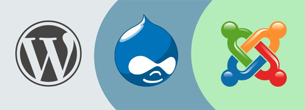 WordPress Drupal and Joomla