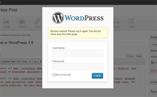 WordPress 3.6 Login Notification
