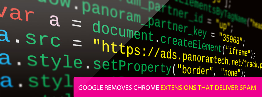 Google Removes Chrome Extensions That Deliver Spam