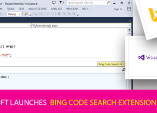 Microsoft launches Bing Code Search extension for Visual Studio