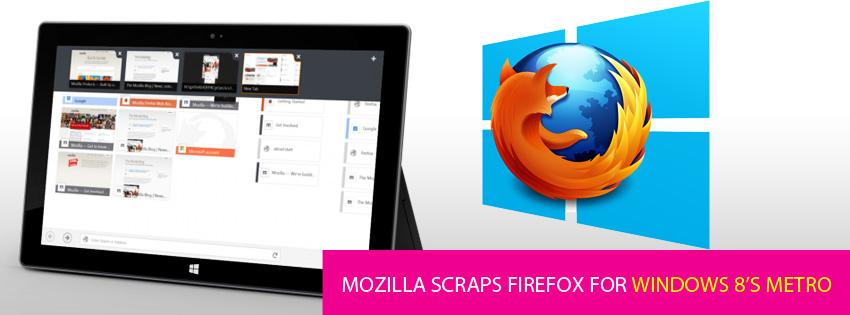Mozilla scraps Firefox for Windows 8's Metro