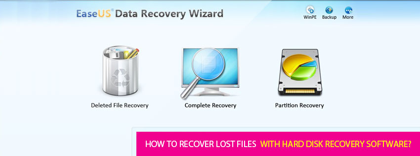 How to recover lost files with hard disk recovery software?