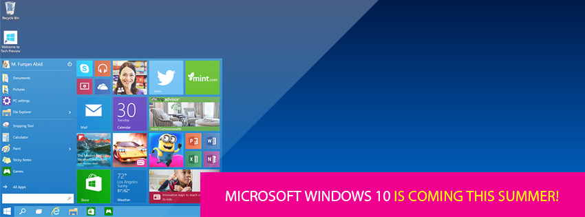Microsoft Windows 10 is Coming This Summer!