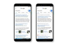 Google Search new look on mobile devices